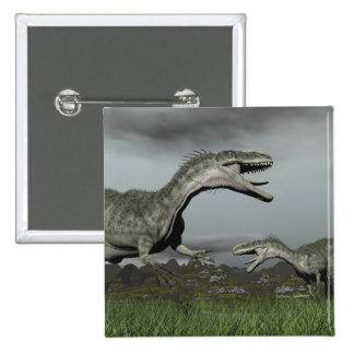 Monolophosaurus roaring - 3D render 2 Inch Square Button