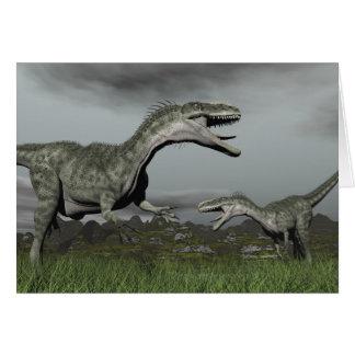 Monolophosaurus roaring - 3D render Card
