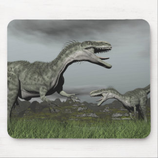 Monolophosaurus roaring - 3D render Mouse Pad