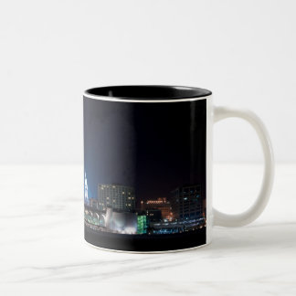 Monona Terrace and Madison Capitol at Night Two-Tone Coffee Mug