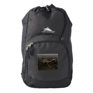 Mononykus dinosaur by night backpack