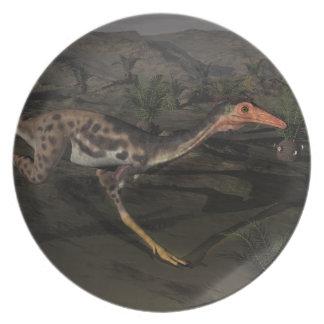 Mononykus dinosaur by night plate