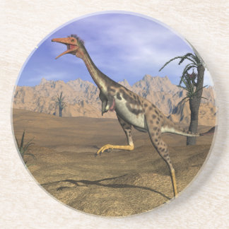 Mononykus dinosaur hunting - 3D render Coaster