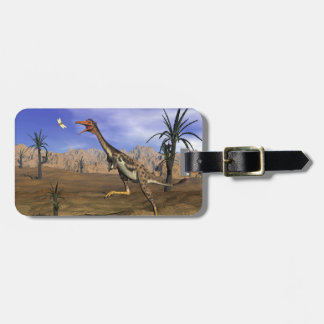 Mononykus dinosaur hunting - 3D render Luggage Tag