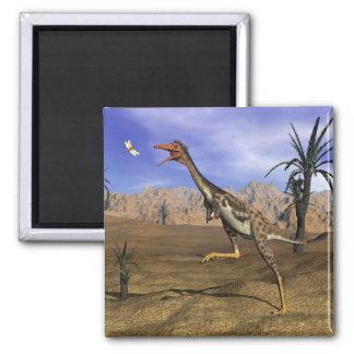 Mononykus dinosaur hunting - 3D render Magnet