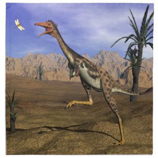 Mononykus dinosaur hunting - 3D render Napkin