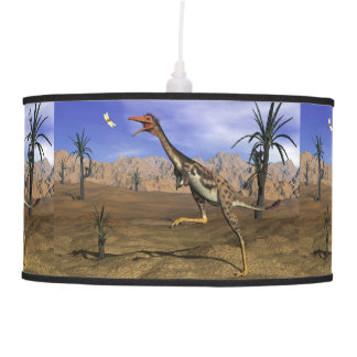 Mononykus dinosaur hunting - 3D render Pendant Lamp