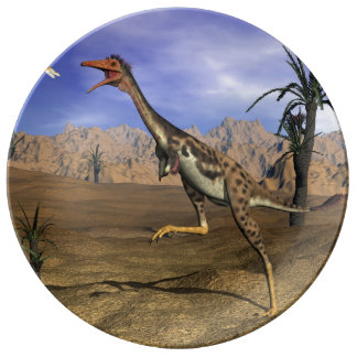 Mononykus dinosaur hunting - 3D render Plate