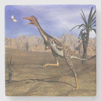 Mononykus dinosaur hunting - 3D render Stone Coaster