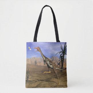 Mononykus dinosaur hunting - 3D render Tote Bag