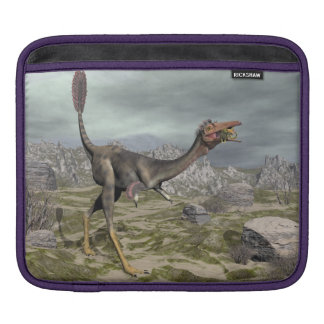 Mononykus dinosaur in the desert - 3D render iPad Sleeve