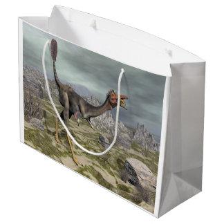 Mononykus dinosaur in the desert - 3D render Large Gift Bag