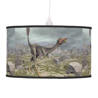 Mononykus dinosaur in the desert - 3D render Pendant Lamp