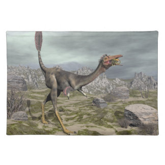 Mononykus dinosaur in the desert - 3D render Placemat