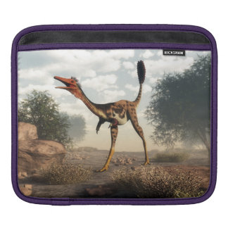 Mononykus dinosaur in the desert - 3D render Sleeves For iPads