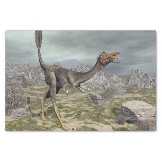 Mononykus dinosaur in the desert - 3D render Tissue Paper