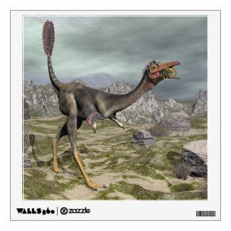 Mononykus dinosaur in the desert - 3D render Wall Sticker