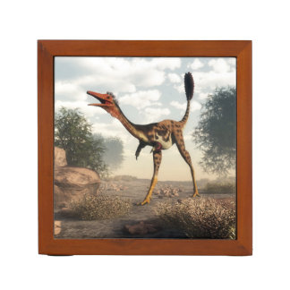 Mononykus dinosaur in the desert desk organizer