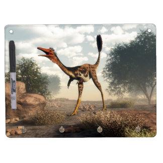 Mononykus dinosaur in the desert Dry-Erase whiteboard