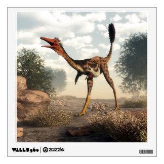 Mononykus dinosaur in the desert wall decal