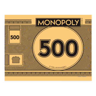 Monopoly | 500 Dollar Bill Postcard