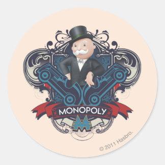Monopoly Blue Classic Round Sticker
