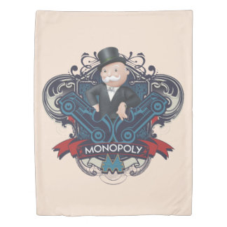 Monopoly Blue Duvet Cover