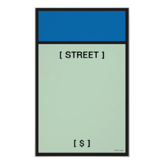 Monopoly   Blue Space Poster