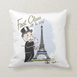 Monopoly | First Class all the Way Throw Pillow