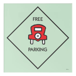 Monopoly | Free Parking Corner Square Acrylic Wall Art