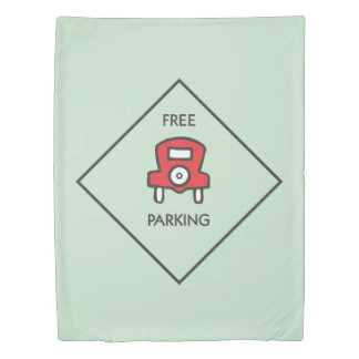 Monopoly | Free Parking Corner Square Duvet Cover