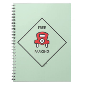 Monopoly | Free Parking Corner Square Notebook