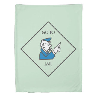 Monopoly | Go To Jail - Corner Square Duvet Cover