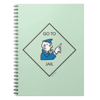 Monopoly | Go To Jail - Corner Square Notebook