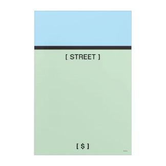 Monopoly   Lt. Blue Space Acrylic Print