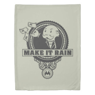Monopoly | Make it Rain Duvet Cover