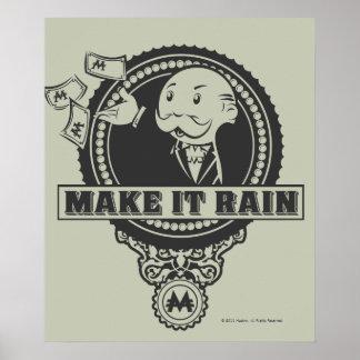 Monopoly | Make it Rain Poster