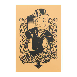 Monopoly | Mr. Right Acrylic Wall Art