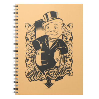 Monopoly | Mr. Right Spiral Notebook