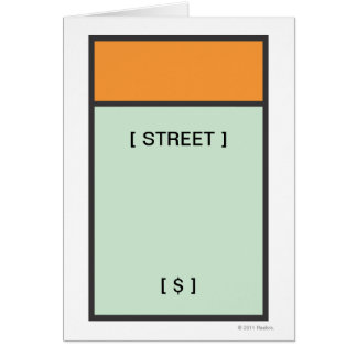 Monopoly | Orange Space Card