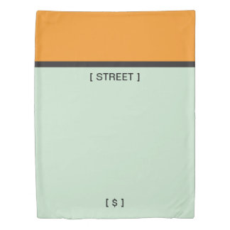 Monopoly | Orange Space Duvet Cover