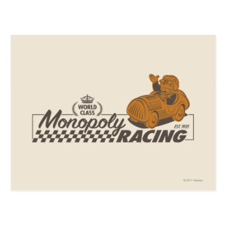 Monopoly Racing Postcard