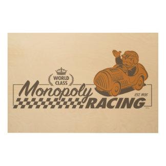 Monopoly Racing Wood Wall Decor