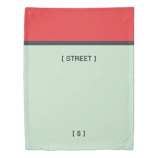 Monopoly | Red Space Duvet Cover