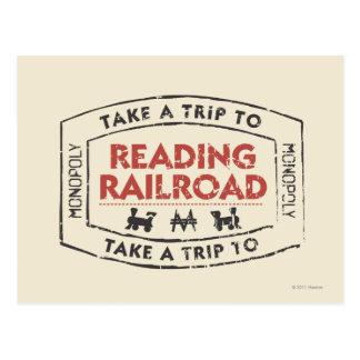 Monopoly | Take a Trip to Reading Railroad Postcard