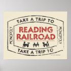 Monopoly | Take a Trip to Reading Railroad Poster
