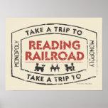 Monopoly   Take a Trip to Reading Railroad Poster