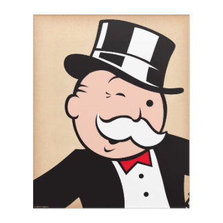 Monopoly   Uncle Pennybags Winking Acrylic Print