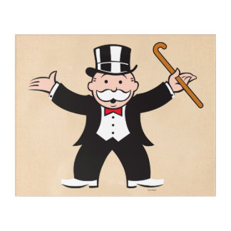 Monopoly | Uncle Pennybags With Cane Acrylic Print