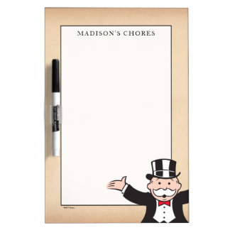 Monopoly | Uncle Pennybags With Cane Dry Erase Board
